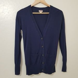 3/15 Mossimo Supply Button Up Navy Blue Cardigan